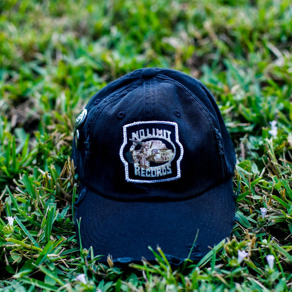 Soldier Distressed Vintage Hip Hop Hat Black