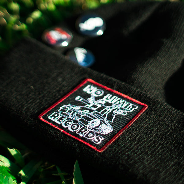 No Limit Tank Custom Hip Hop Patch Beanie with Pins Black (3)