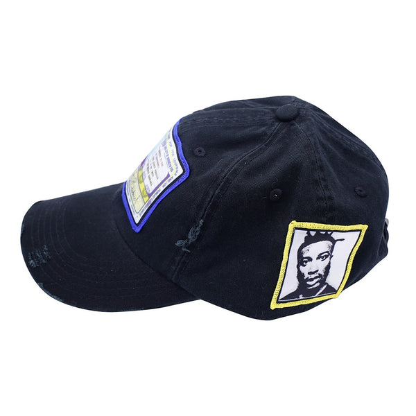 ODB Vintage Hip Hop Hat Black detail