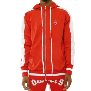 Own The Team Double Stripe Jacket Red