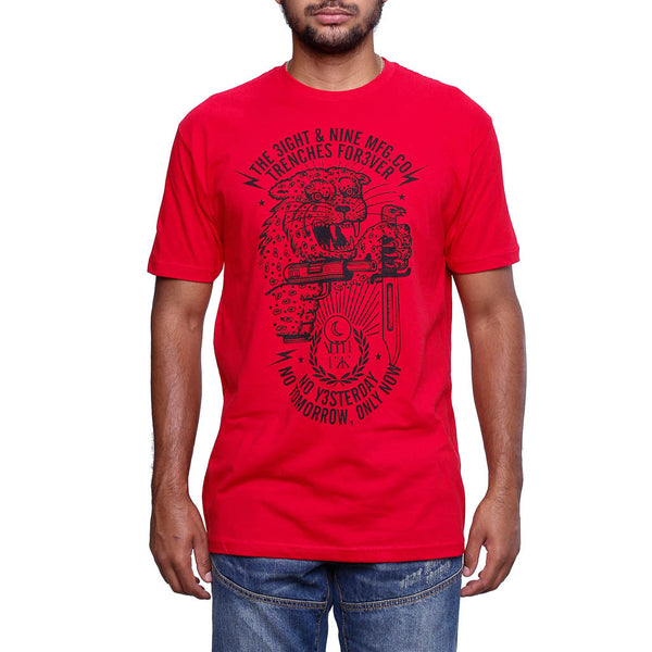 Only Now T Shirt Red front