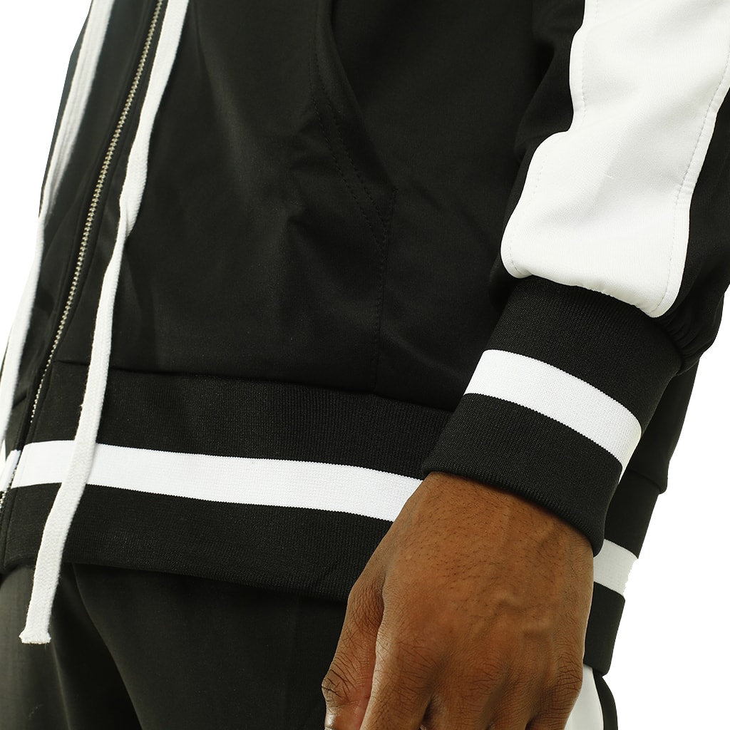 Own The Team Double Stripe Jacket Black