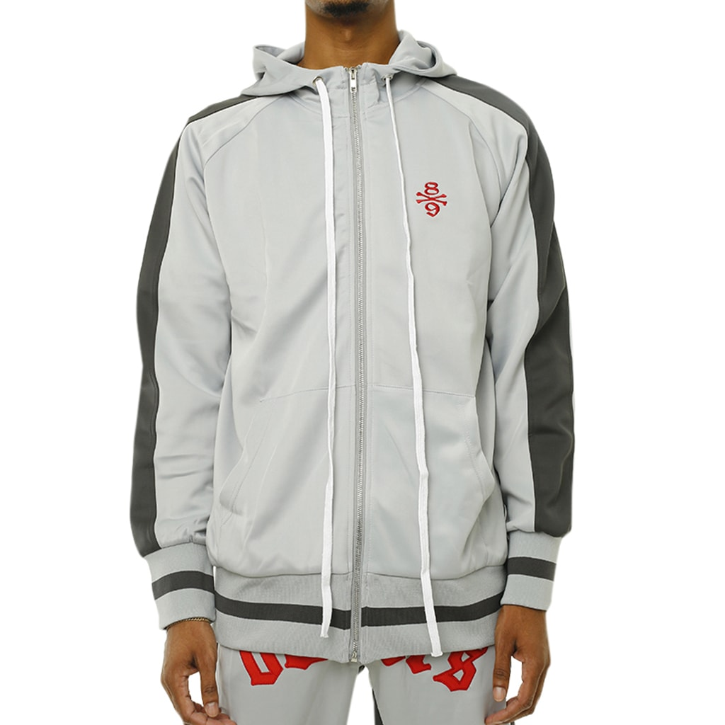 Own The Team Double Stripe Jacket Grey