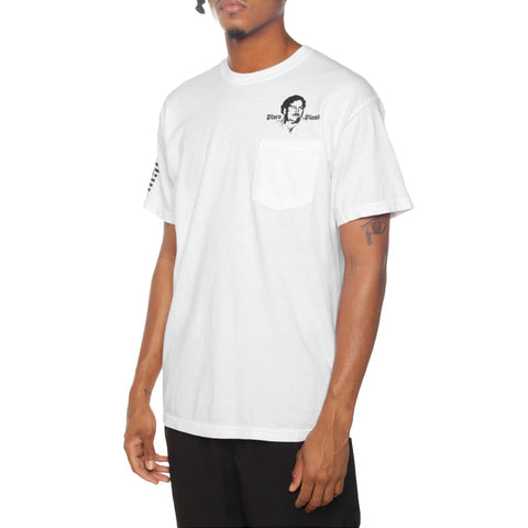 Patron Beach Garment Dye T Shirt White