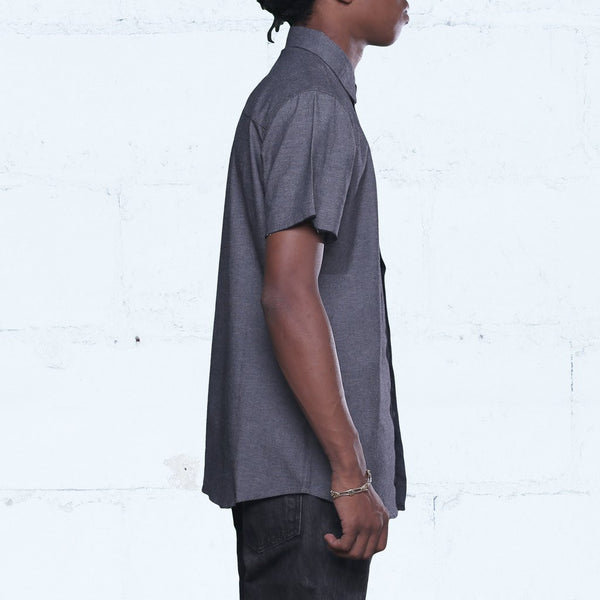 Pelican Bay Chambray Button Up Shirt Black side