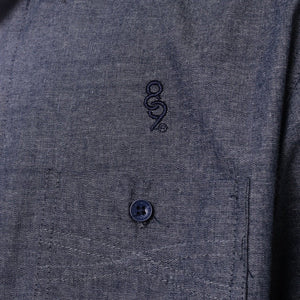 Pelican Bay Chambray Button Up Shirt Navy Crest Streetwear