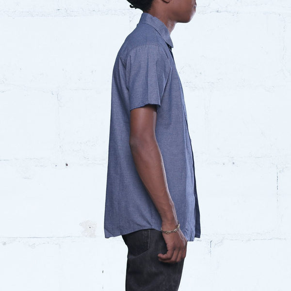 Pelican Bay Chambray Button Up Shirt Navy Side Streetwear