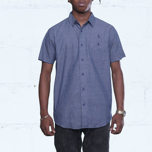 Pelican Bay Chambray Button Up Shirt Navy Streetwear (1)