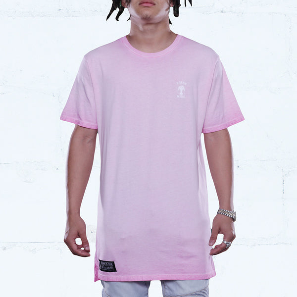 Rose Antique Wash Elongated T Shirt