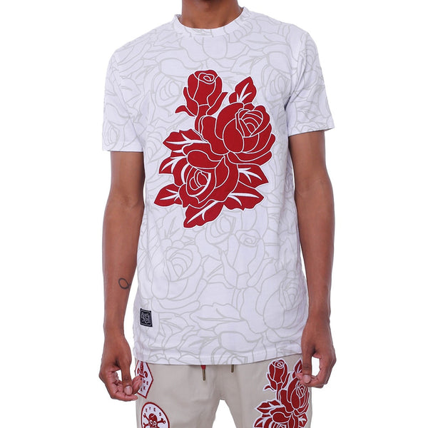 Roseace Applique T Shirt White