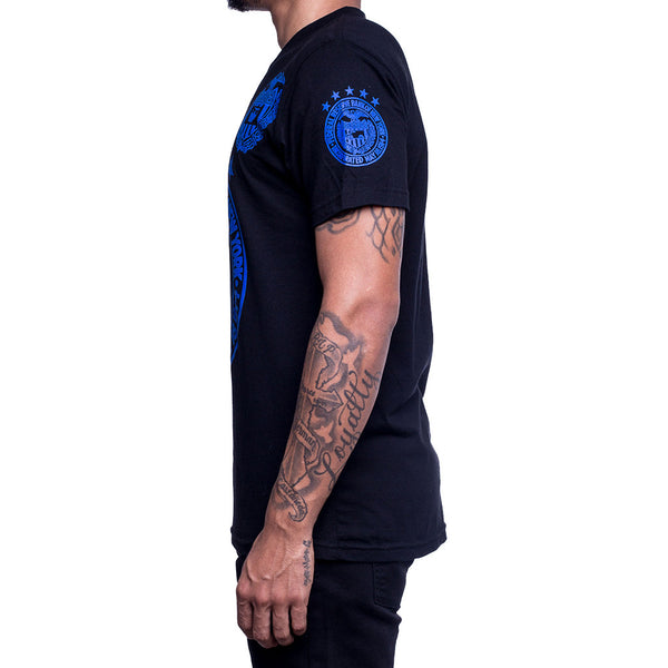 Royal Blue Foamposite Fed Reserve Tee Left