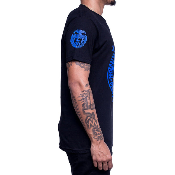 Royal Blue Foamposite Fed Reserve Tee side