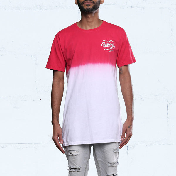Served Dip Dye T Shirt Gym Red