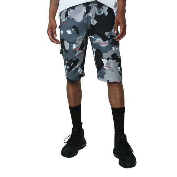 Snow Camo Paid Carpenter Shorts