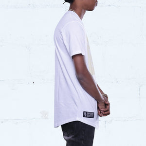 Spiny Curved Hem T Shirt White Side