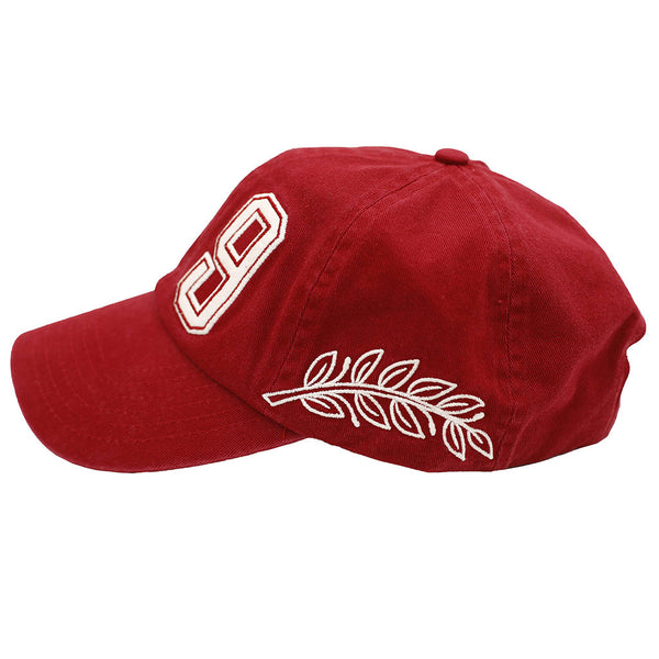 Spirit Embroidered Polo Hat Maroon left