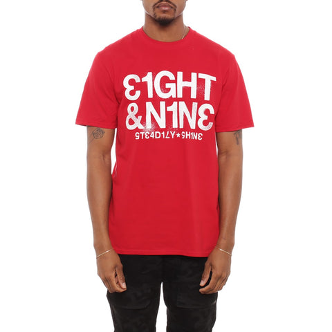 Steady T Shirt Fire Red 5