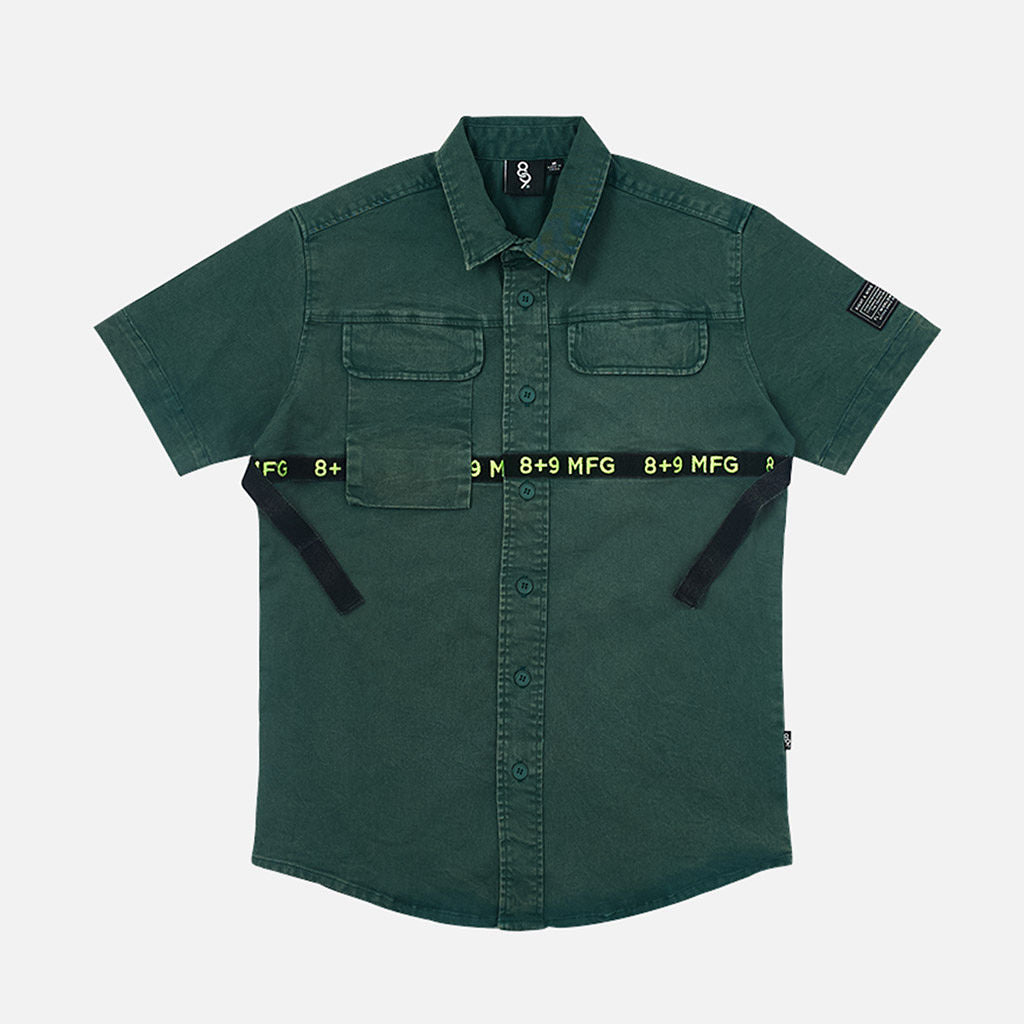 Strapped Up Button Up Shirt Vintage Green