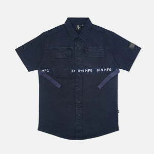 Strapped Up Button Up Shirt Vintage Navy