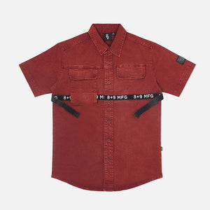 Strapped Up Button Up Shirt Vintage Rust