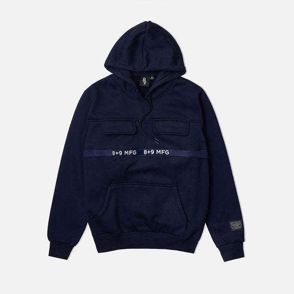 Strapped Up Fleece Hoodie Navy