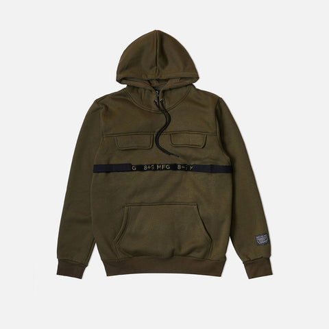 Strapped Up Fleece Hoodie Olive