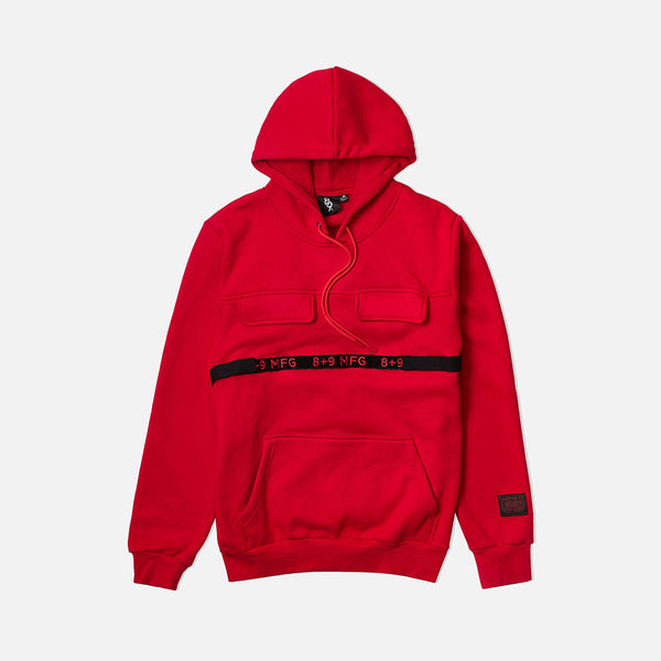 Strapped Up Fleece Hoodie Red