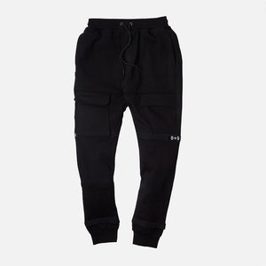 Strapped Up Fleece Sweatpants Black