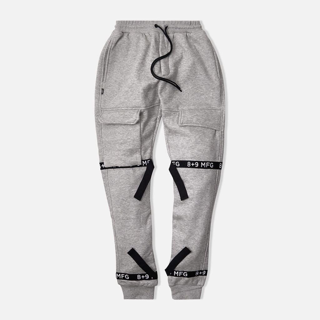 Strapped Up Fleece Sweatpants Grey