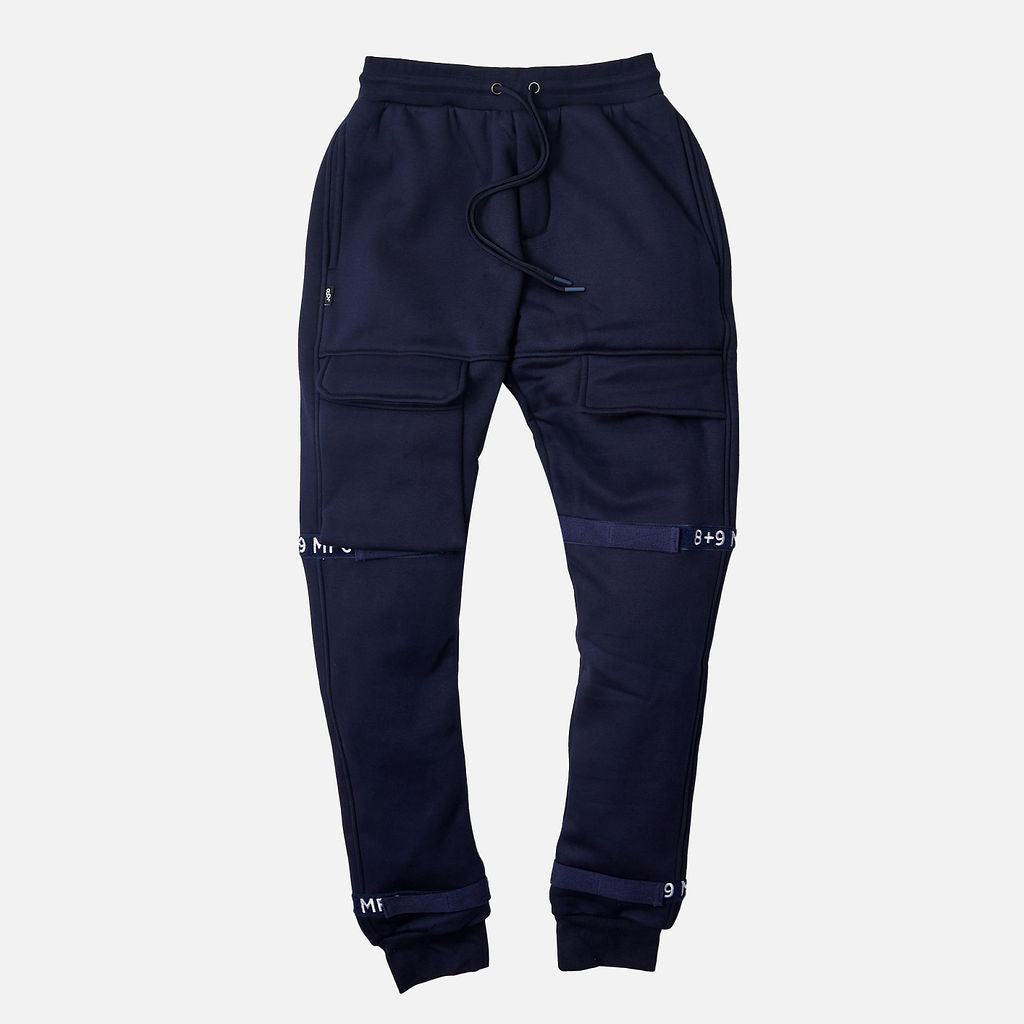 Strapped Up Fleece Sweatpants Navy