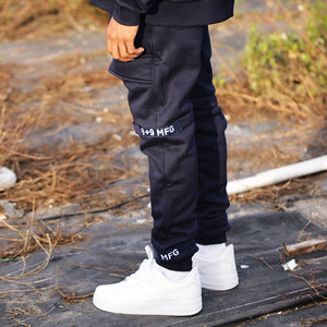 Strapped Up Slim Fleece Sweatpants Navy