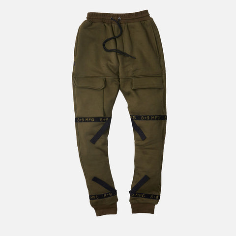 Strapped Up Fleece Sweatpants Olive