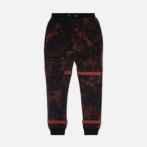 Strapped Up Slim Fleece Sweatpants Bred Tie Dye