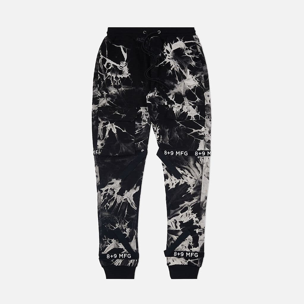 Strapped Up Slim Fleece Sweatpants Oreo Tie Dye