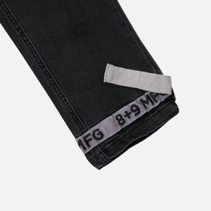 Strapped Up Slim Utility Black Jeans Grey Straps