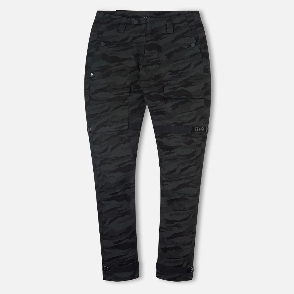 Strapped Up Slim Utility Pant Black Camo