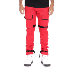Strapped Up Slim Utility Pant Red