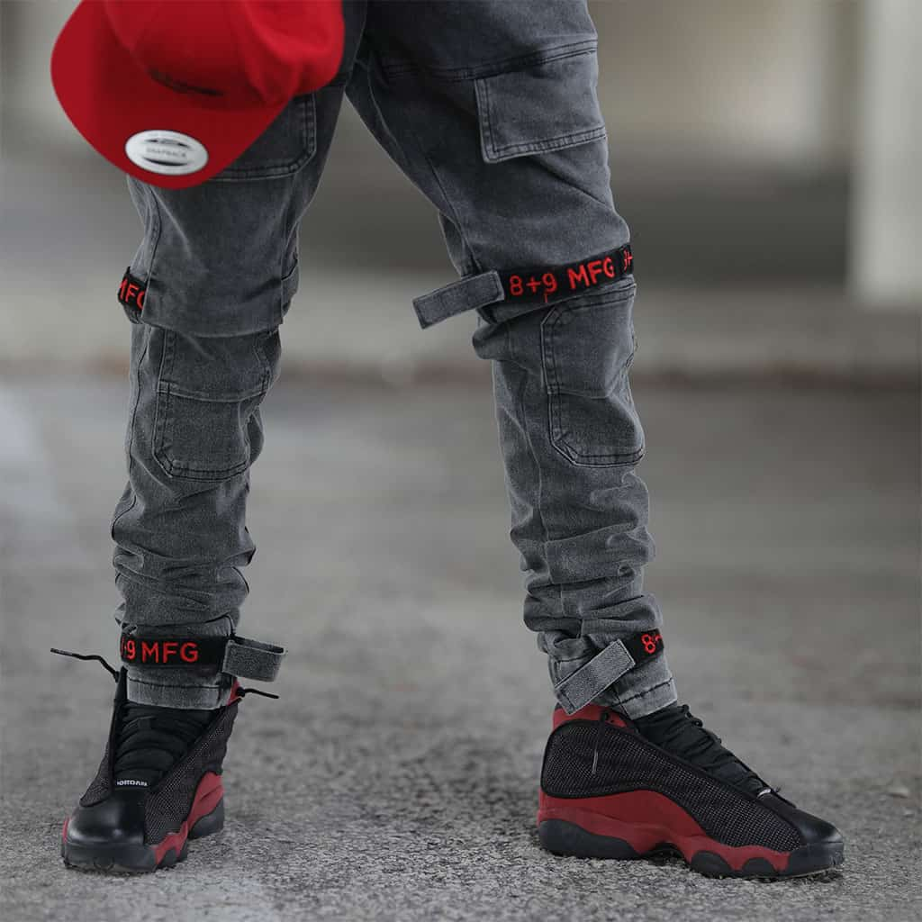 Strapped Up Slim Utility Pant Vintage Wash Red