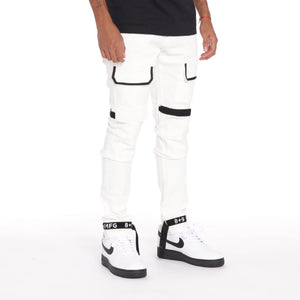 Strapped Up Slim Utility Pant White