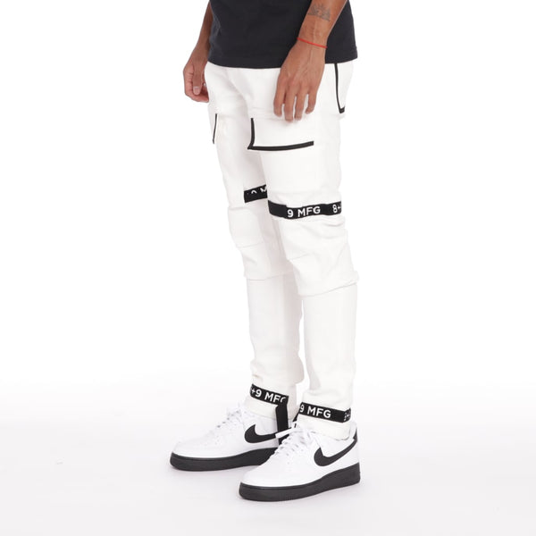 Strapped Up Utility Pant White