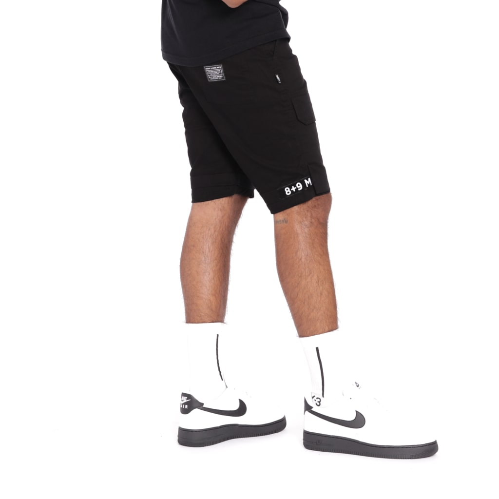 Strapped Up Slim Utility Shorts Black OG
