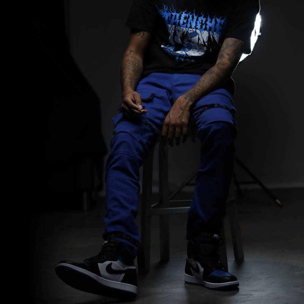 Strapped Up Utility Pant Royal