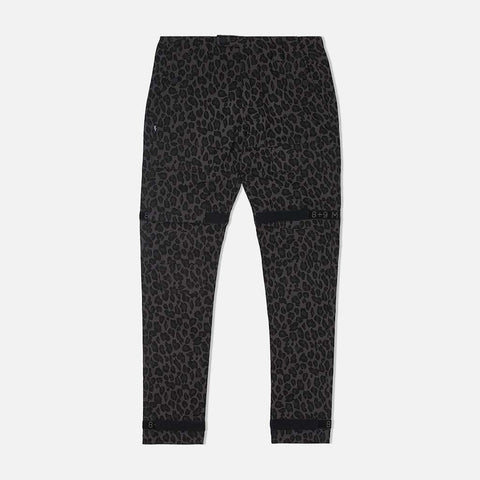 Strapped Up Utility Pants Grey Cheetah