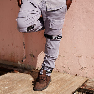 Strapped Up Vintage Washed Utility Pants Blue