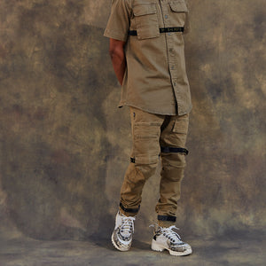 Strapped Up Vintage Washed Utility Pants Olive