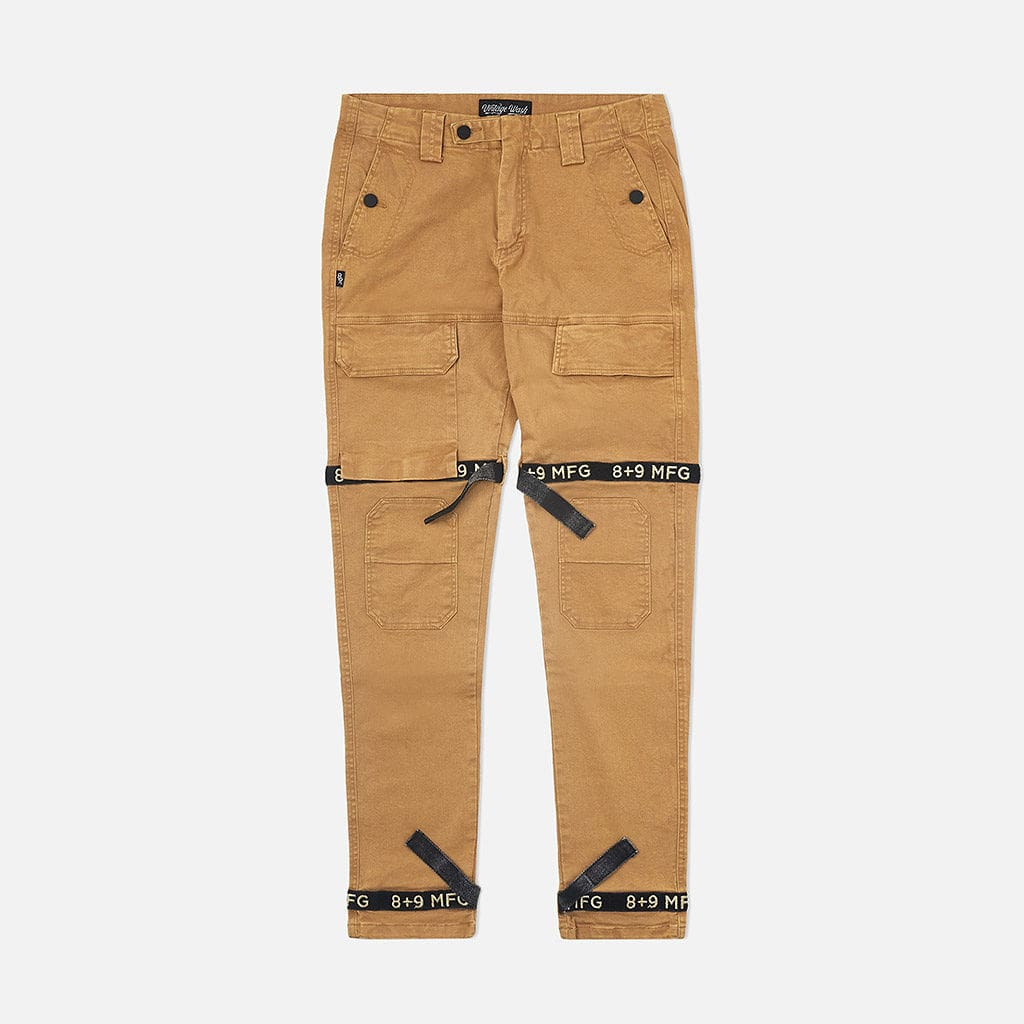 Strapped Up Vintage Washed Utility Pants Tan