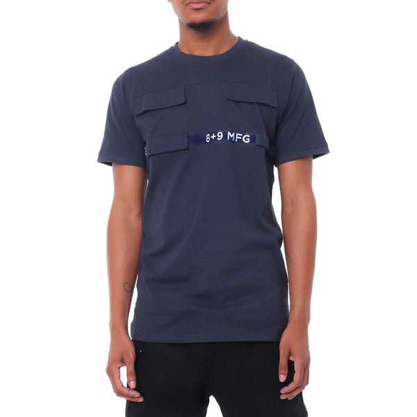Strapped Up Military Shirt Navy