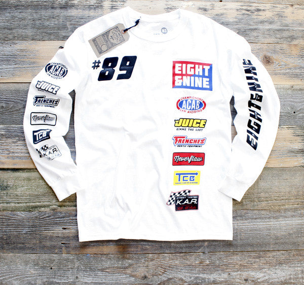 Drag Race Custom Jersey Tee White L/S - 1