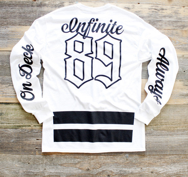 On Deck Jersey Tee White L/S - 2