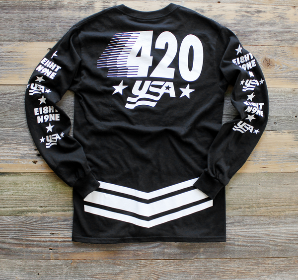 Team USA Jersey Tee Black L/S - 2